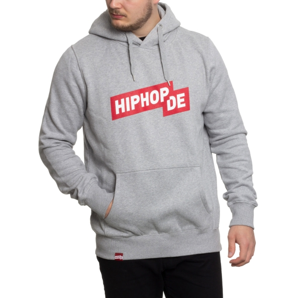Hiphop.de Logo Hoody, Unisex - Heather Grey